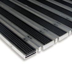 FLOMAT Gumová hliníková kartáčová venkovní vstupní rohož Alu Low Extra, FLOMAT - 1 cm
