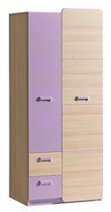 LOIRENTO, kombinovaná skříň L1, jasan/fialová