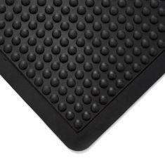 """Černá gumová protiúnavová průmyslová modulární rohož """"středový díl"""" - 90 cm, 60 cm a 1,4 cm"""