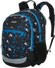 Loap Ellipse školní batoh černá/modrá