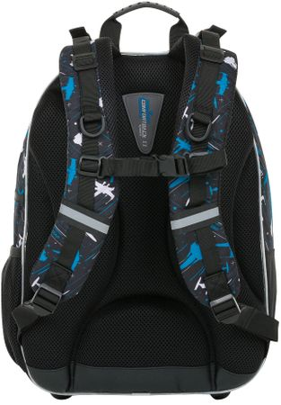 Loap Ellipse školní batoh černá modrá  1136ac3332