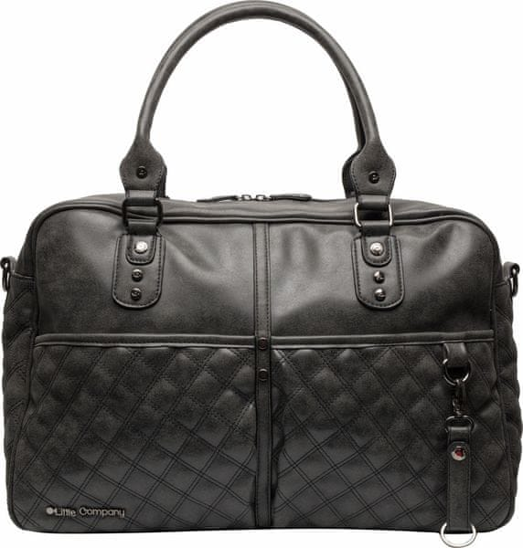 Little Company Přebalovací taška Berlin Quilted, Black