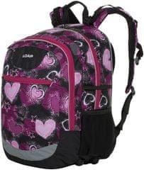 Loap Ellipse školní batoh černá/růžová