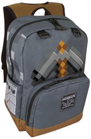 J!NX nahrbtnik Minecraft Pickaxe Adventure, temno siv