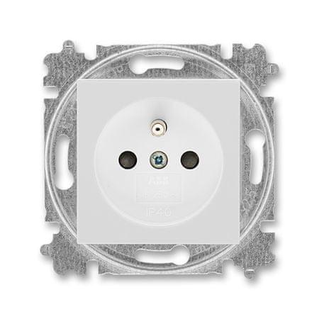 ABB 5519H-A02357 16 Zásuvka jednonásobná s ochranným kolíkem, s clonkami