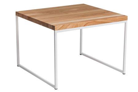 Mørtens Furniture Konferenční stolek Kirse, 100 cm, třešeň/bílá