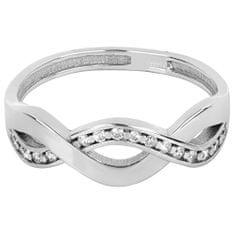 Brilio Silver Něžný stříbrný prsten 426 001 00425 04 - 1,92 g stříbro 925/1000