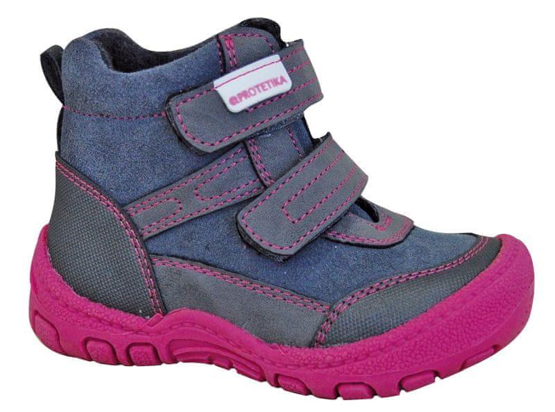 Protetika dívčí zimní boty Mel 20 šedá