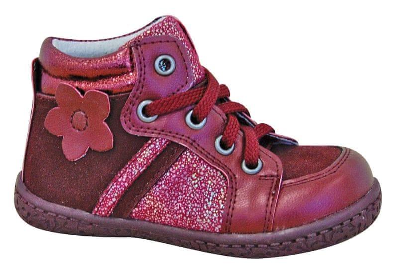527f92eb3 Protetika dívčí kotníkové boty Ronda 25 červená