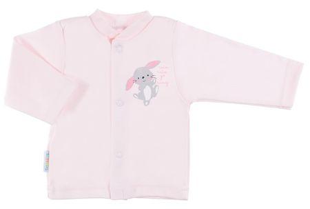 Ewa Klucze dívčí kabátek Family s králíčkem 50 růžová