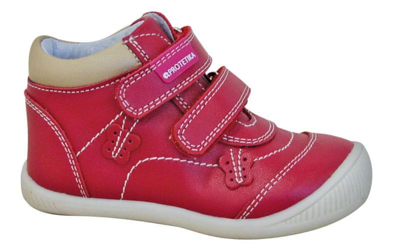 Protetika dívčí kotníkové boty Fia 26 červená