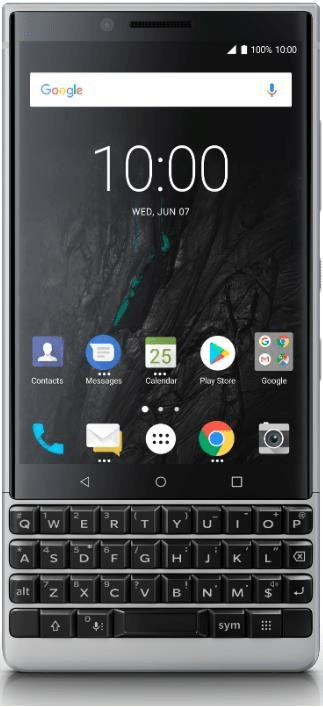 BlackBerry KEY2 Athena Single SIM, 6GB/64GB, Silver