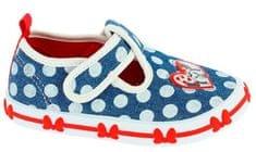 Disney by Arnetta Dívčí bačkůrky Minnie modro-bílá
