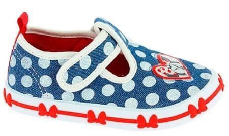 Disney by Arnetta Dívčí bačkůrky Minnie 21 modro-bílá