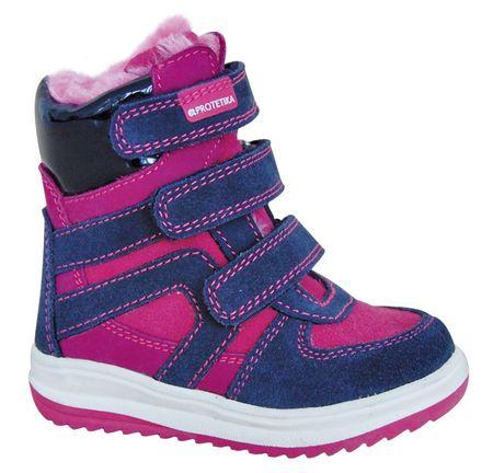 Protetika dziewczęce buty zimowe za kostkę  Ebony, 21, różowe/niebieskie