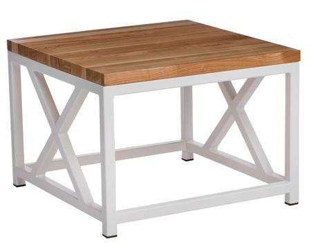 Mørtens Furniture Konferenční stolek Kvist, 45 cm, třešeň/bílá