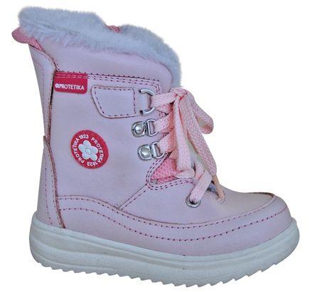 Protetika dziewczęce buty zimowe za kostkę Bory, 22, jasnoróżowe