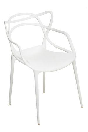 Mørtens Furniture Jídelní židle s područkami Minster, bílá
