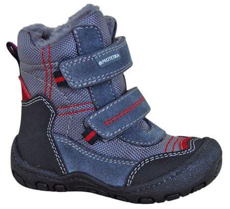 Protetika chlapecké zimní boty Rolo 20 šedá/modrá