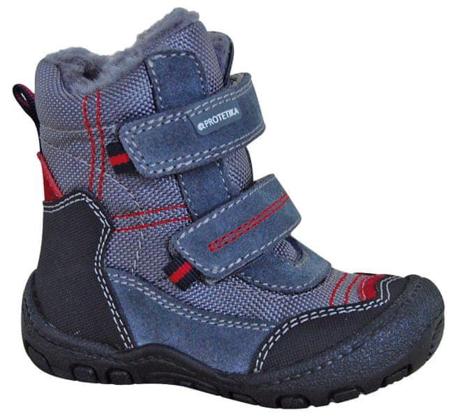 7b246429bbb Protetika chlapecké zimní boty Rolo 23 šedá modrá