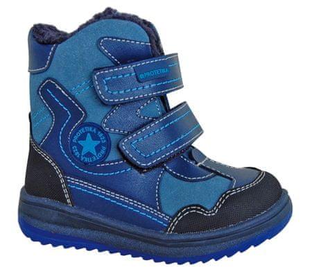 Protetika buty zimowe za kostkę chłopięce Riki 19 niebieski