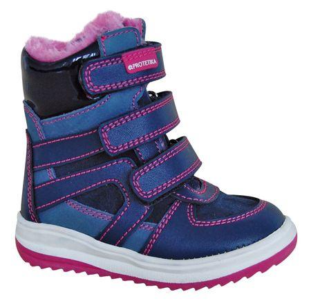 Protetika buty zimowe za kostkę dziewczęce Ebony 20 niebieski
