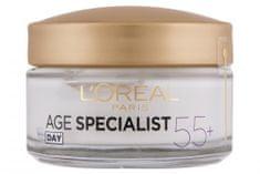 Loreal Paris dnevna krema za ponovno učvrstitev kože Age Specialist Anti-wrinkle 55+, 50 ml