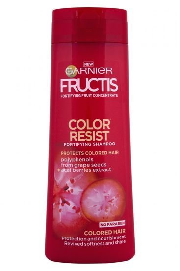 Garnier šampon za barvane lase Fructis Color Resist, 250 ml