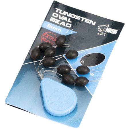 Nash Ťažké Korálky Tungsten Oval Beads 8 mm