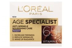 Loreal Paris hranilna nočna krema proti gubam Age Specialist Anti-wrinkle 65+, 50 ml