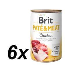 Brit Paté & Meat Chicken 6x400g