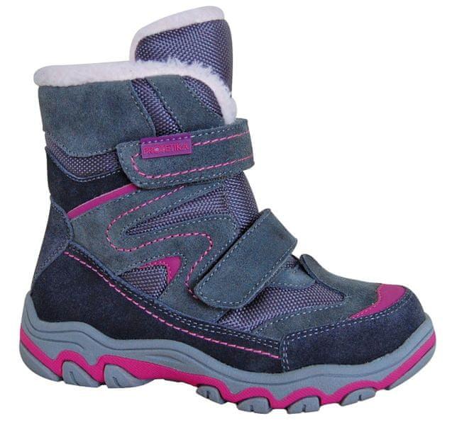 Protetika dívčí zimní boty Donata 30 šedá