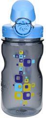 Nalgene OTF steklenička, otroška, 350 ml, siva, kvadratki