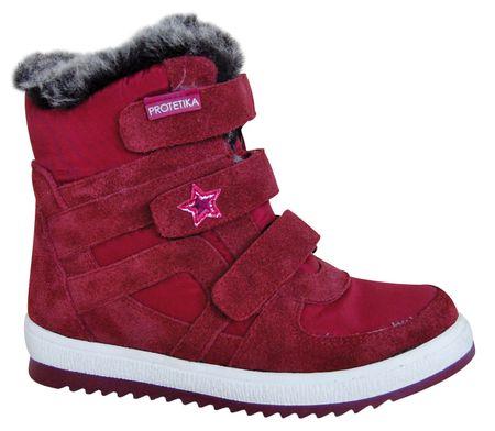 Protetika buty zimowe za kostkę dziewczęce Peny 31 czerwony