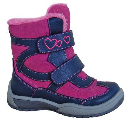 Protetika buty zimowe za kostkę dziewczęce Besy 28, różowy/niebieski