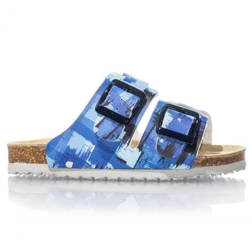 01b7985a44b7 Protetika Chlapecké ortopedické pantofle 27 modrá