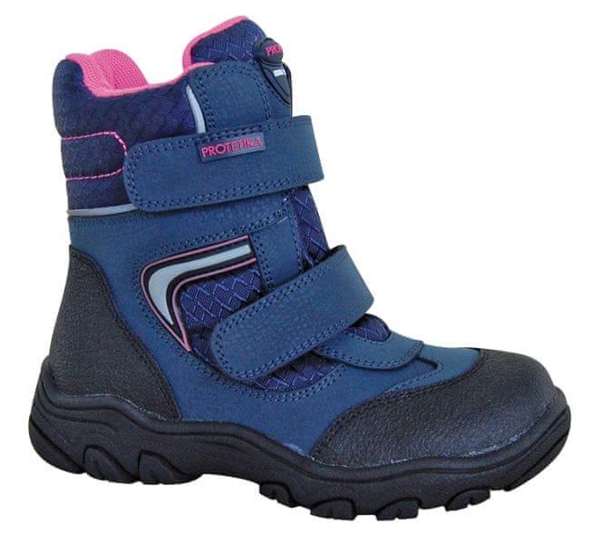 Protetika dívčí zimní boty s membránou Nordika 28 modrá