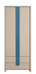 CAPS, skříň SZF2D2S, dub sv. belluno/modrá