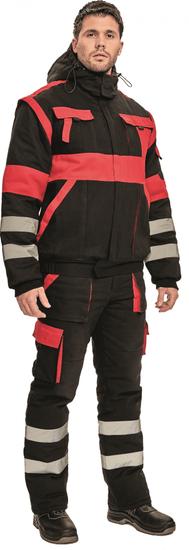 Max Zateplená montérková bunda Max Winter s reflexními pruhy
