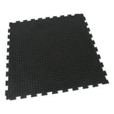 FLOMAT Gumová zátěžová podlahová modulární rohož Heavy Bubble - 100 x 100 x 1,6 cm