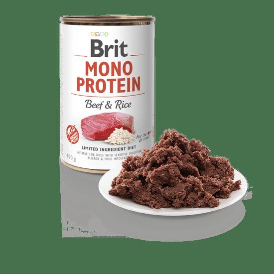 Brit Mono Protein Beef & Brown Rice 6x400g
