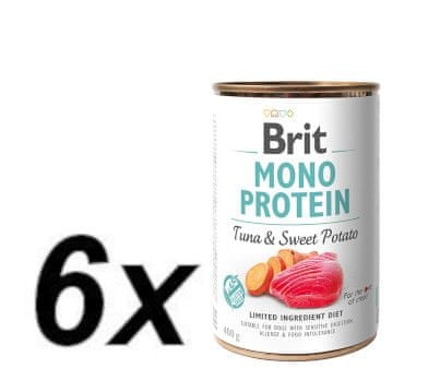 Brit Mono Protein Tuna & Sweet Potato 6x400g