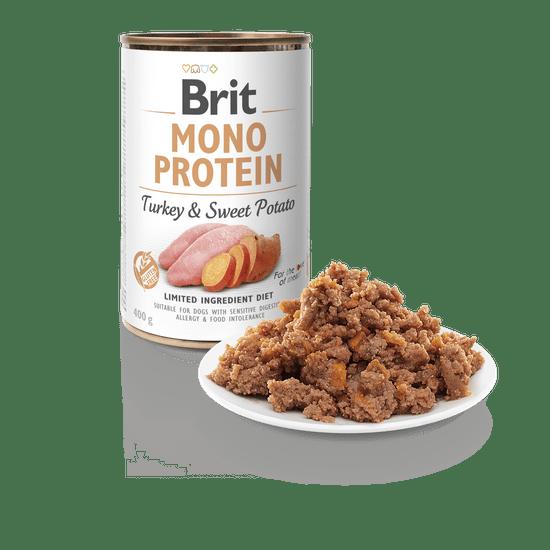 Brit karma dla psa Mono Protein Turkey & Sweet Potato, 6x400g