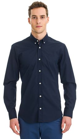 Galvanni pánská košile Hasselt M tmavo modrá