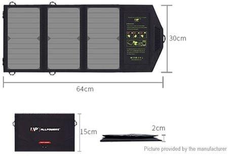 Allpowers SP5V21W solárny dobíjač 21W (EU Blister) 2438885