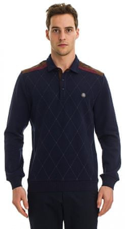 Galvanni moška polo majica Leaf, M, temno modra