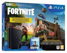 Sony igralna konzola PlayStation 4 Slim + VCH Fortnite, 500 GB, črna