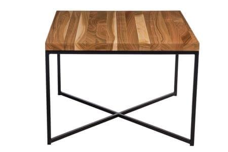 Mørtens Furniture Konferenční stolek Besk, 100 cm, třešeň/černá