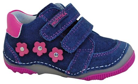 af946614447 Protetika dívčí kotníkové boty barefoot Maty 25 modrá