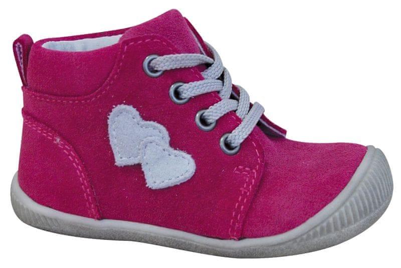 Protetika dívčí kotníkové boty Baby 21 růžová b46420eddd